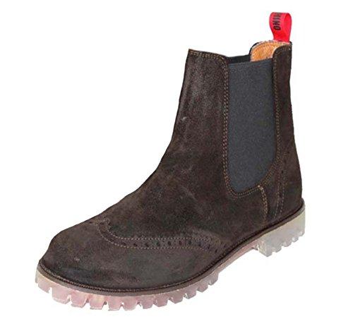 MOSCHINO Herrenschuhe Full-Brogue Shoe Boot Stiefeletten 55953 Braun