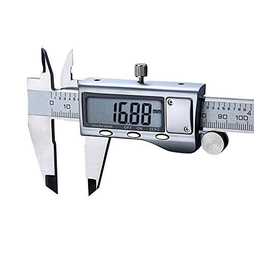 MDHANBK Woodworking Gadget Depth Measurement Stainless Steel LCD Digital Electronic Vernier Caliper Micrometer Measuring Tool