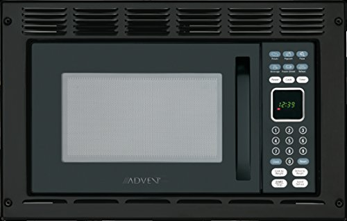 Advent MW912BK Black Built-in Microwave Oven with Trim Kit specially built for RV Recreational...