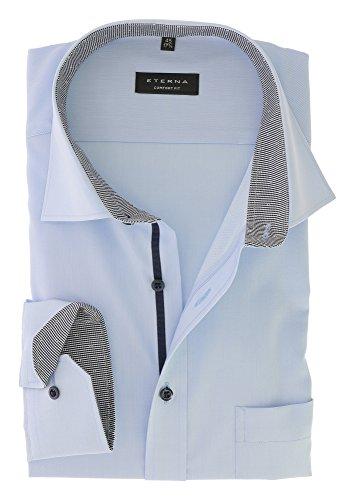ETERNA long sleeve Shirt COMFORT FIT plain light blue 17 super long (72 cm)