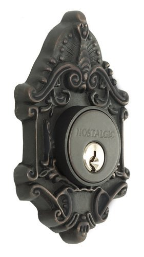 Nostalgic Warehouse BN60-VICDB-OB Victorian Deadbolt, Single Cylinder, Oil Rubbed Bronze by Nostalgic Warehouse