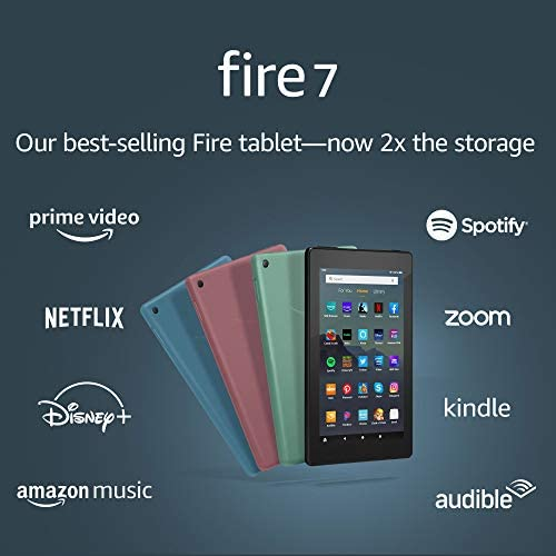 "Certified Refurbished Fire 7 Tablet (7"" show, 16 GB) - Twilight Blue"