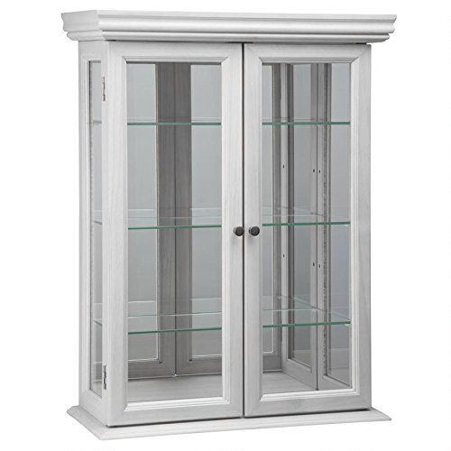- Design Toscano Country Tuscan Hardwood Wall Curio Cabinet: Lily White Finish