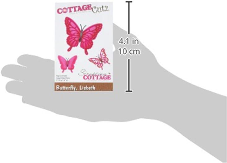 Mariposa de Lisbeth CottageCutz 234740/cc-099/Die 2/x 1.8 Plata