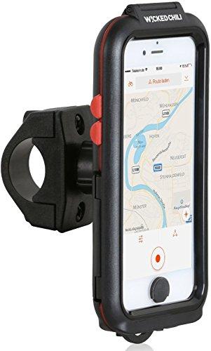 Wicked Chili Tour Case für Apple iPhone 6S / 6 - Outdoor Fahrradhalterung Bike Navigation (Spritzwasserschutz IPx4, Ladekabelanschluss, Kopfhörerbuchse, neig- und drehbar)