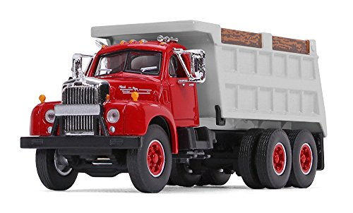 First Gear 1/64 Scale Red/Gray Mack B-61 Dump Truck (60-0401)