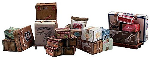Woodland Scenics Scenic Accents Miscellaneous Packaged Freight (Boxes, Crates, Sacks Total 6 diff.) (Miscellaneous Case)