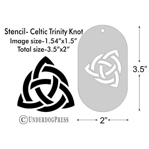 Stencil - Celtic Trinity Knot, Medium