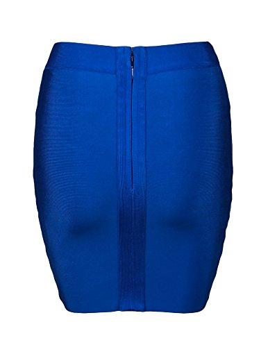 minigonna Shownice e di Blue Bodycon Fasciatura busto contenimento SSwH1gfq