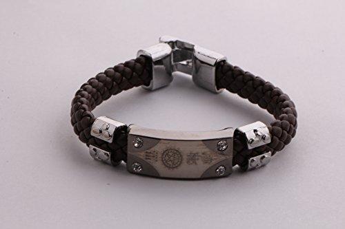 Popular Anime Kuroshitsuji Braided Leather Bracelet