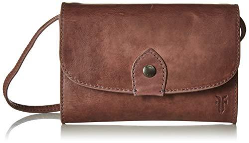 FRYE Melissa Wallet Crossbody Clutch Leather Bag, Lilac - Handbag Clutch Convertible