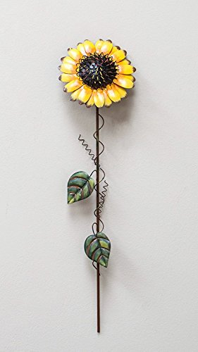 Lenox Collection Tin Sunflower Garden Pick Garden Decor, 22-Inch Tall, Yellow by Home Accent