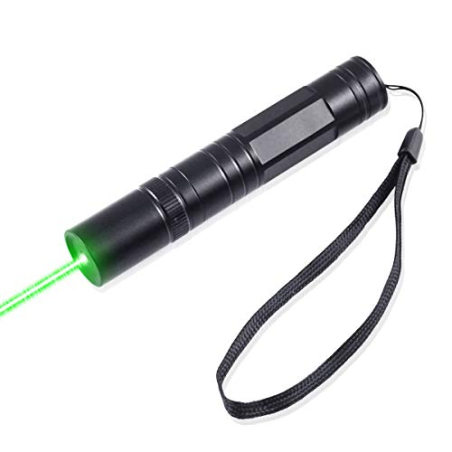 FreeMascot 532 NM Green Light Flashlight 5 Miles Range at Night Best for Hunting, Astronomy, Camping and Hiking (Black) 532 Nm Green Laser