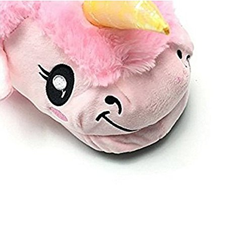 pink Chaussons Peluche Coton Licorne U JYSPORT Pantoufles Hiver 41 pointure 36 Unicorn européenne Slipper qHOdBx