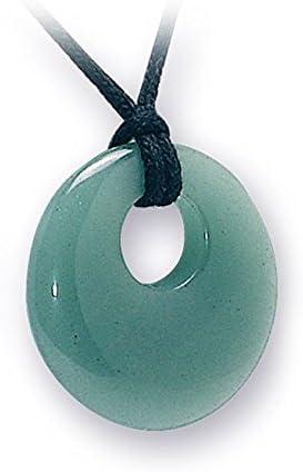 British fósiles Natures regalo verde Aventurina cristal colgante Donut