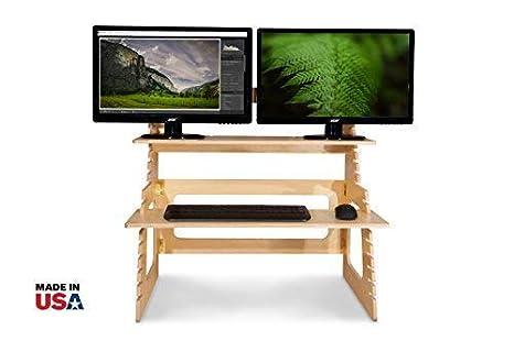 Amazon.com: Dual Monitor computadora de Pie Converter por ...