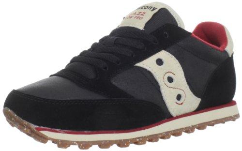 Saucony Originals Men's Jazz Low Pro CL Running Shoe,Black/Red,8.5 M US