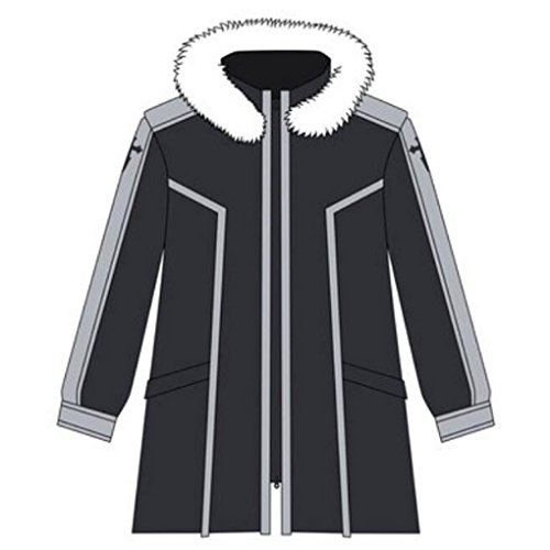 Sword Art Online Kazuto Kirigaya Cosplay Costume (Poetic Walk Sword Art Online New kirigaya kazuto Costume Coat Jacket (Small, Black))
