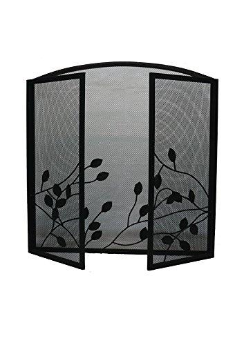 Vintage Spark Protector de estufa chimenea Firescreen Nursery Seguridad pantalla protectora para chimenea diseño de hojas