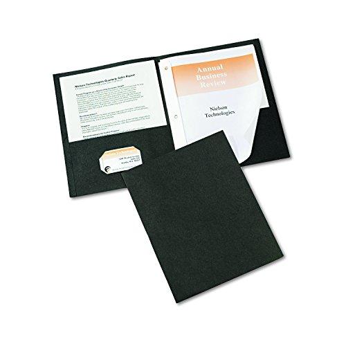 Avery Two Pocket Folders Black 47978