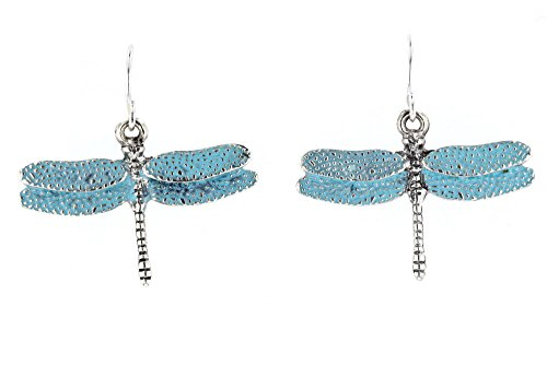 Turquoise Dragonfly Earring (Violet & Virtue Women's Dangle Dragonfly Earrings (Turquoise))