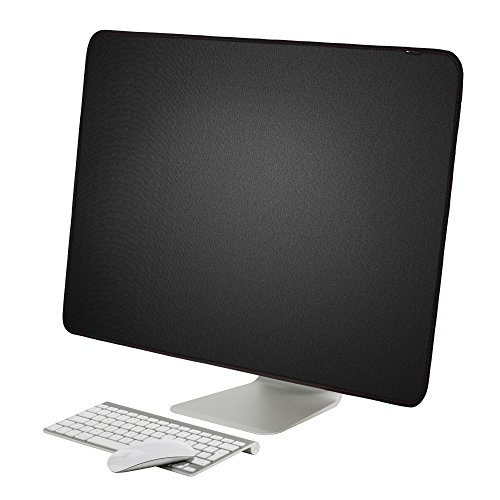 Lightning Power - PU Leather Protective Screen Dust Cover Sleeve with rear pocket for Apple IMAC 27 slim A1419 (27'' with pocket, Black PU Leather) by Lightning Power (Image #1)