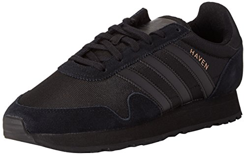adidas Haven, Baskets Basses Mixte Adulte Noir (Core Black/Core Black/Core Black)