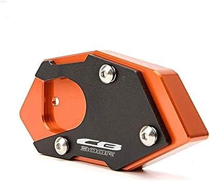 JDDRCASE CNC Aluminium Motorrad Seitenst/änder Pad Erweiterung Platte St/änderverl/ängerung for Honda CB300R 2013-2019
