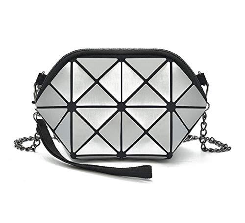 Las De del del Diamante Enrejado Cadena Diagonal Silver Mujeres Mano Yeying123 De La La De De Bolso Geometría del La Hombro del Moda Bolso De vx0BwwqT6