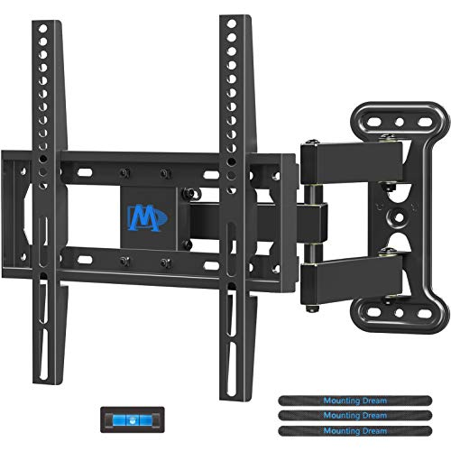 Mounting Dream TV Mount Full Motion with Perfect Center Design for 26-55 Inch LED, LCD, OLED Flat Screen TV, TV Wall Mount Bracket with Articulating Arm up to VESA 400x400mm, 60 lbs MD2377