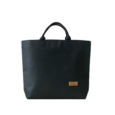 fb50e3e8fca Amazon.com: LYX@ Canvas Bag, Information Bag File Package, Review Bag Make  Up Bag, Book Bag Handcuffs Lunch Bag, Lunch Box Bag Large (Color : Black):  Sports ...