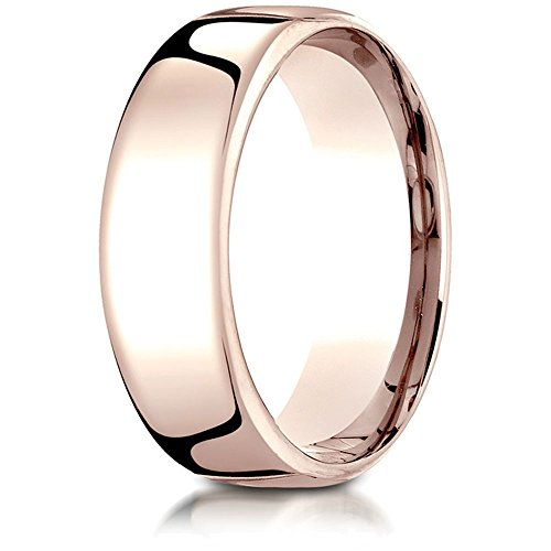 Benchmark 14k Rose Gold 7.5mm European Comfort-fit Wedding Band / Ring Size 11.5 ()