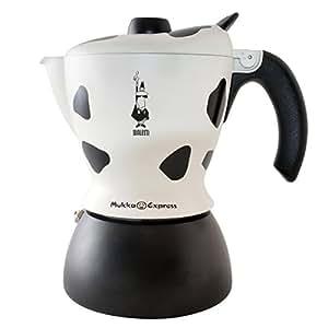 Bialetti 6989 - Cafetera italiana, 21,3 x 17,5 x 13, color negro/blanco