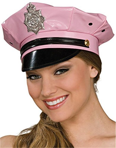 Rubie's Costume Co Pink Vinyl Police Hat Costume