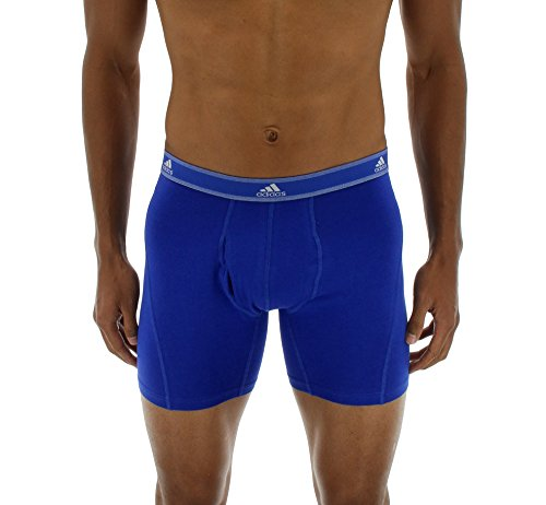 adidas Men's Relaxed Performance Stretch Cotton Boxer Briefs Underwear (2-Pack) by adidas (Image #4)
