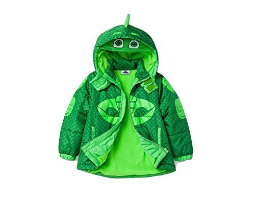 Price comparison product image PJ MASKS Toddler Boys' Gekko Puffer Coat, Green, 3T