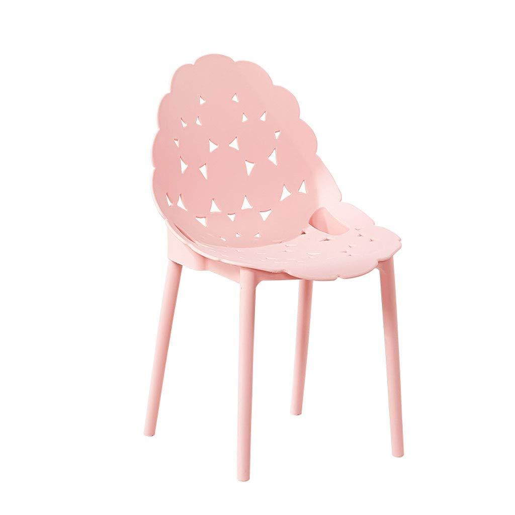 Pink L45CMXH90CM CHX Backrest Plastic Nordic Chair Simple Lazy Home Restaurant Style C (color   bluee, Size   L45CMXH90CM)