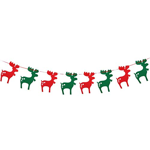 Garosa (Pack of 3) Merry Christmas Banner, Holiday Decorations Set Beautiful Hanging Bunting Banner Pendant for Celebration Christmas Ornaments Xmas Festival Decor (Fawn)