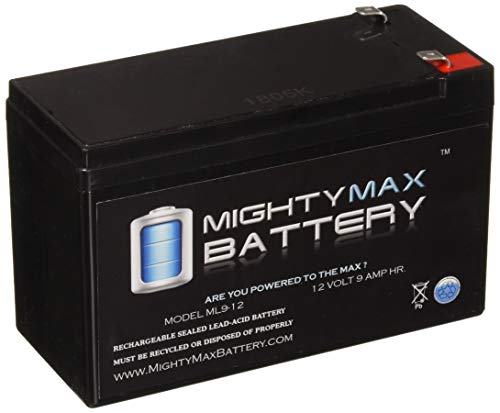 Monster Ups - Mighty Max Battery ML9-12 12 V 9 Ah Rechargeable SLA Battery