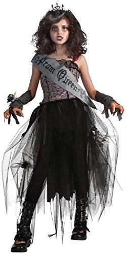 Prom Queen Halloween Dress (Rubie's Deluxe Goth Prom Queen Costume - Medium)