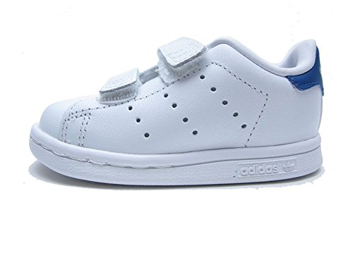 Price comparison product image adidas Originals Kids' Stan Smith CF I Sneaker, White/White/Eqt Blue S, 10 M US Toddler