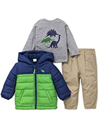 Baby Boys' 3 Piece Hooded Jacket and Pant Set