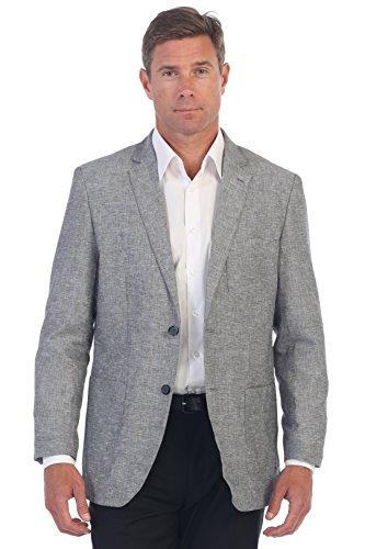 [Gioberti Mens Linen Sports Coat Suit Jacket, Gray, Size 40 Short] (Gray Blazer Jacket)