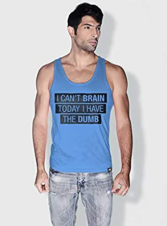 Creo I Cant Brain Today Funny Tanks Tops For Men - M, Blue