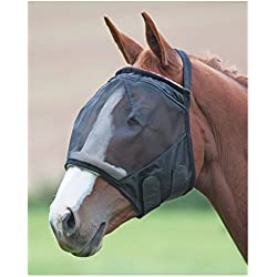 Shires Fine Mesh Earless Fly Mask Pony Black