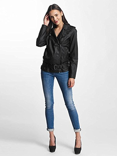 Giacche Jacqueline Yong De Long Donna Faux In Pelle Nero Giacca Leather Biker Jdyerica tqrq4w