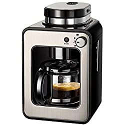 ZXvbyuff Coffee Maker, Coffee Machine with Coffee Pot, Drip Coffee Maker with Thermal Pot, Permanent Filter Coffee Maker, Black