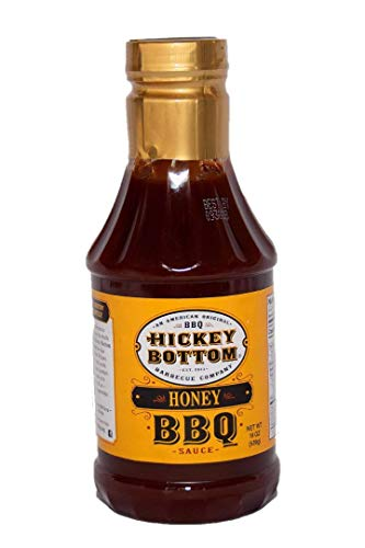Hickey Bottom Barbecue Sauce - Honey BBQ Flavor 20oz Bottle - Clean Ingredients, Small Town Recipe