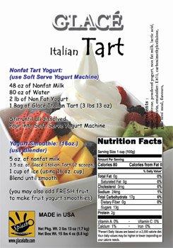 Glace Italian Tart (3-lb 13-oz Pack) (Vanilla Frozen Yogurt Mix)
