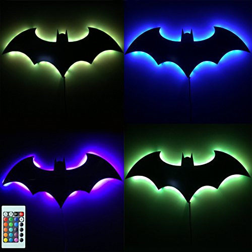 Batman wall light ezobi bat led wall lightcolorful mirror lightremote control projection night lightsuitable aloadofball Choice Image